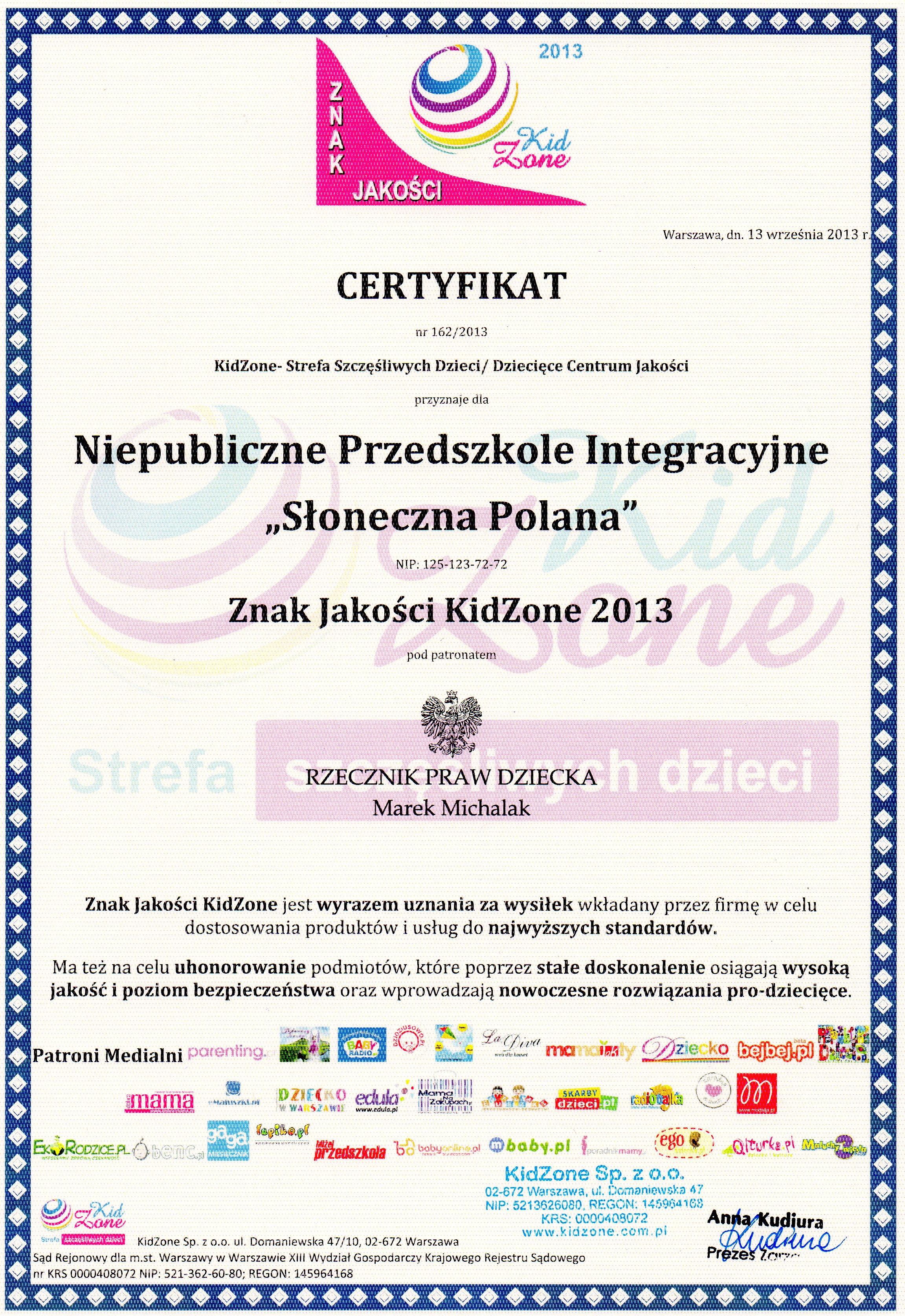 certyfikat_KIDZONE